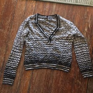 Missoni patterned cropped sweater